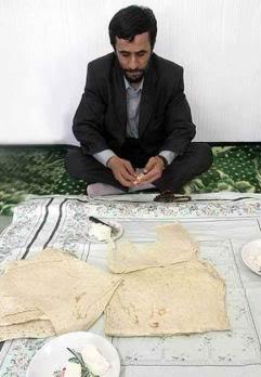 Ahmadi Nejad Eating