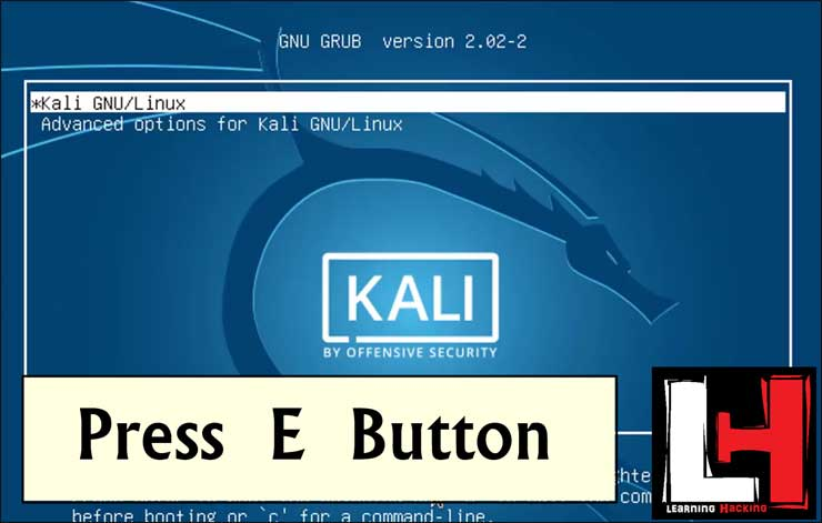 Bypass kali Linux Login without password
