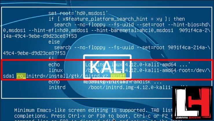 Bypass Kali Linux Login