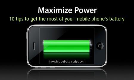 Increase Mobile Battery Lifetime