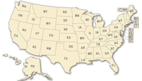 USA Map of States